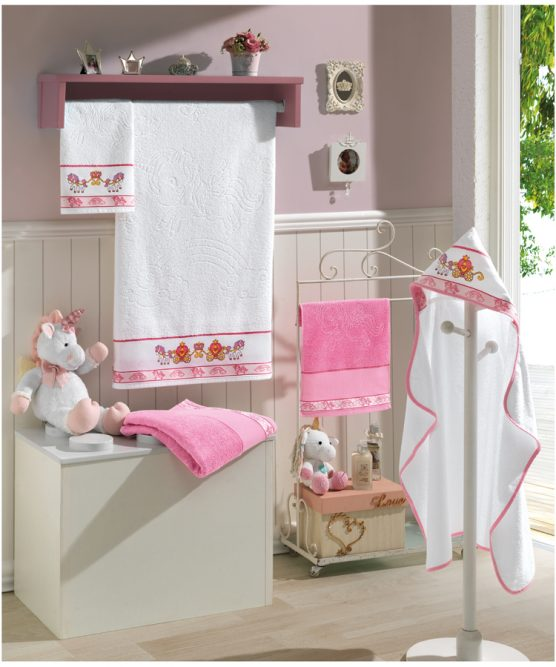 TERRY BATH TOWEL JACQUARD TO EMBROIDER -BABY KIDS SOLID WOVEN- FJ-6241